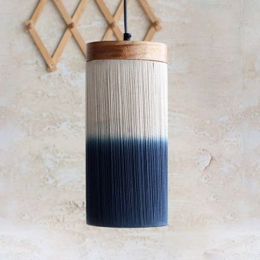 Afreen Hanging Lamp Cylindrical Shaded